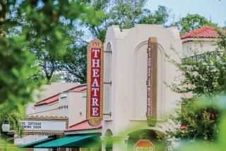 florida studio theatre sign in downtown sarasota