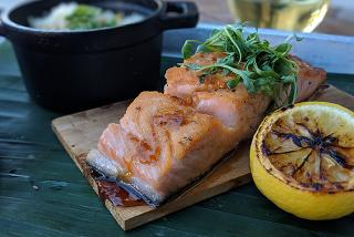 smoked salmon filet from brick's smoked meats in sarasota florida