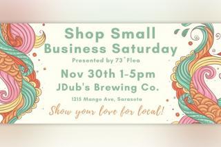 Jdub's Brewing, Indy Flea Market November 30th flyer