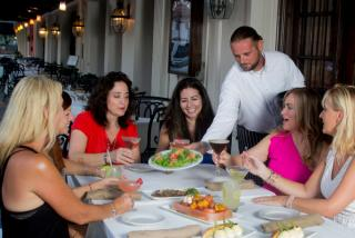 group of women eating at Libby's in Sarasota