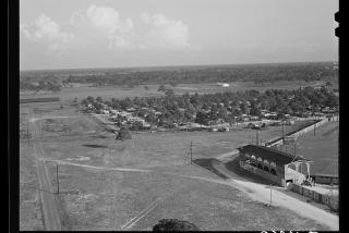 old aerial photo of Payne Park spring training field in Sarasota Florida
