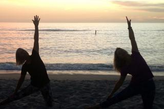 North Jetty beach yoga