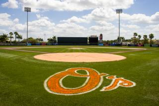 Orioles Spring Training at Ed Smith Stadium in Sarasota Florida