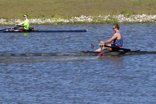 Rowing at Nathan Benderson Park. Photo credit: Robin Draper.