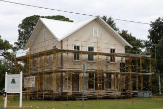 The Higel House under restoration and maintenance.