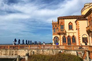 "The Ringling's old ""Ca d'Zan"" mansion and terrace overlooking Sarasota Bay."