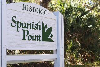 Historic Spanish Point - Sign. (Photo Courtesy Lauren Jackson)