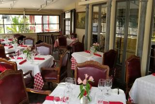 Tables and seating at Amore