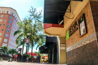 exterior of selva grill in downtown sarasota