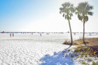 Sand and ocean at Siesta Key Beach Florida