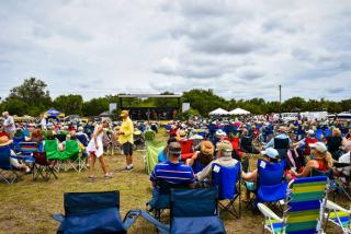 Hundreds gather to enjoy the all day bluegrass musical acts