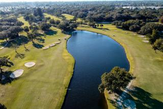 aerial view of golf course in englewood florida