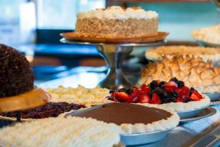 pies, cakes and other desserts at Euphemia Haye restaurant