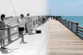 merged photo of the venice fishing pier