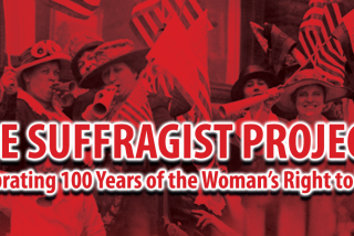 banner for the suffragist project in sarasota florida