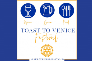 toast to venice 2020 event graphic