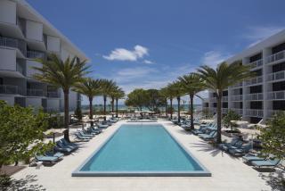 Zota Beach Resort on Longboat Key. A view of the pool and resort.