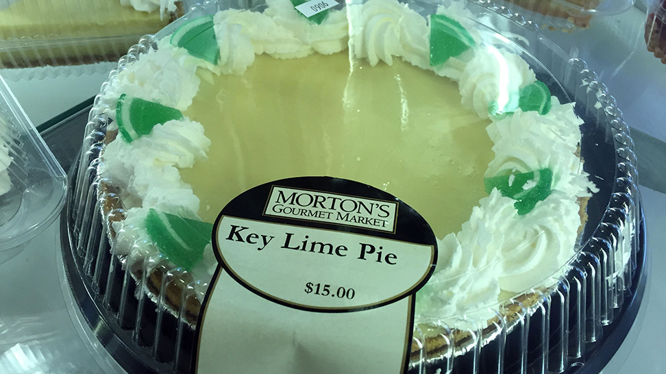 Key Lime Pie from Morton's Gourmet Market