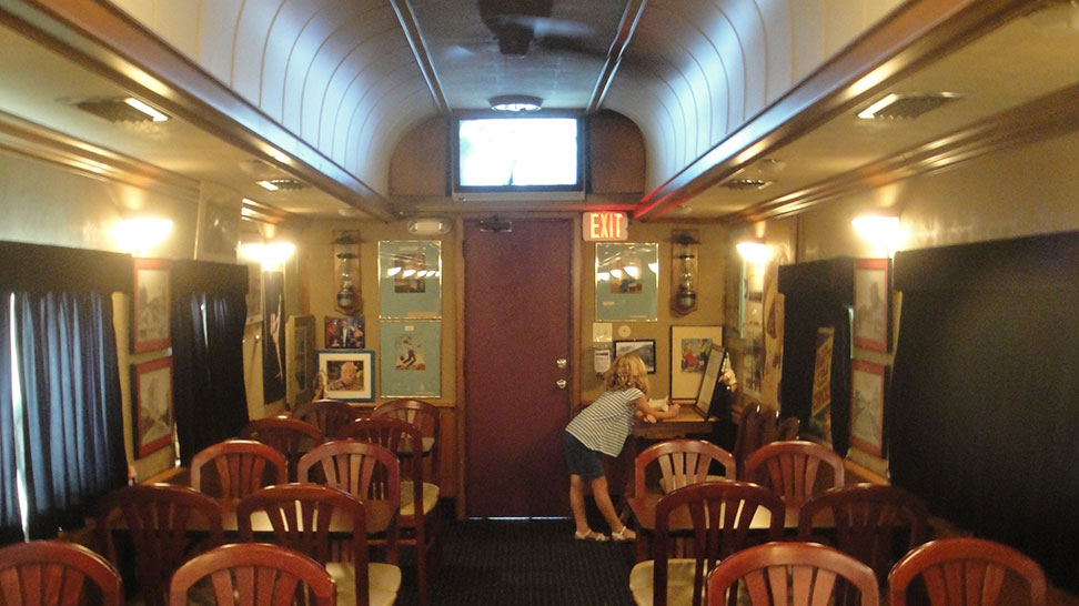 Bob's Train - an interior view