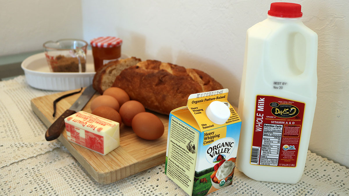 Florida Orange Bread and Butter Pudding - Ingredients
