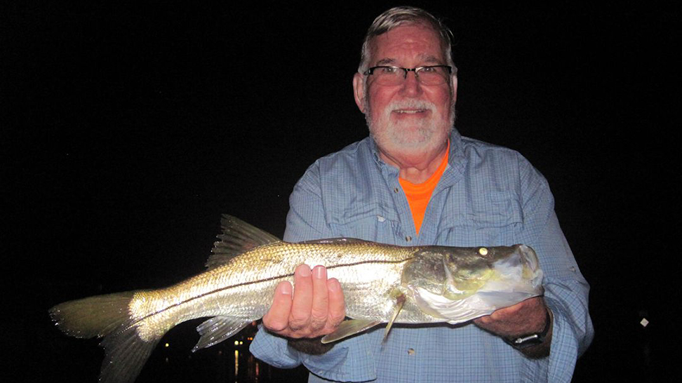 Larry Wachtel, from Boca Raton, FL, with a nice red caught and released on a CAL jig with a shad tail while fishing the backcountry of Gasparilla Sound near Boca Grande with Capt. Rick Grassett.