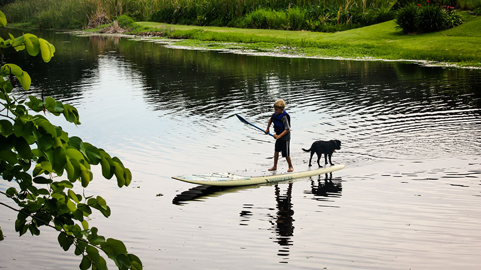 Paddleboarding on Phillippi Creek