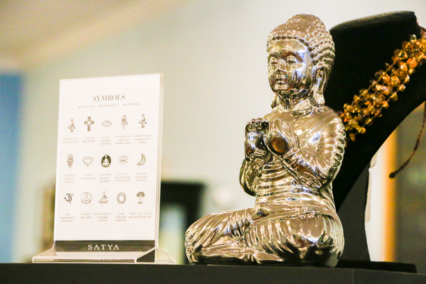 Small statue of buddha inside a sarasota shop