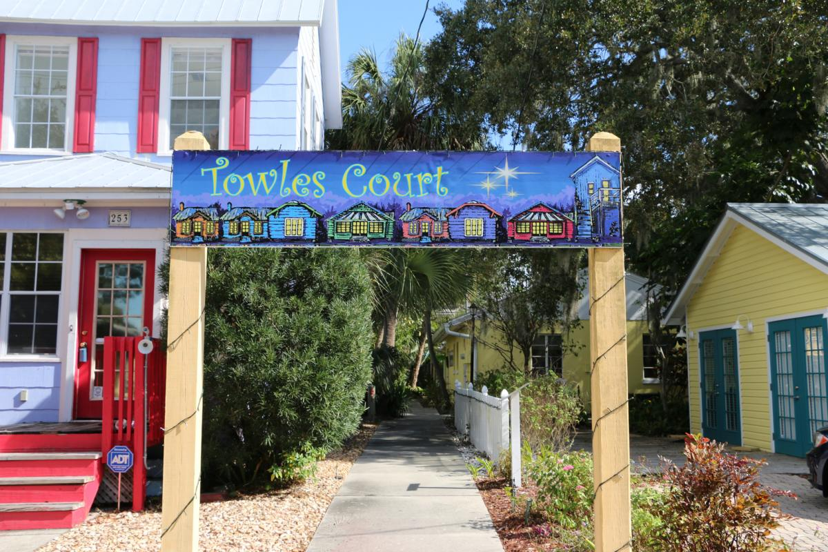 Towles Court sign in sarasota