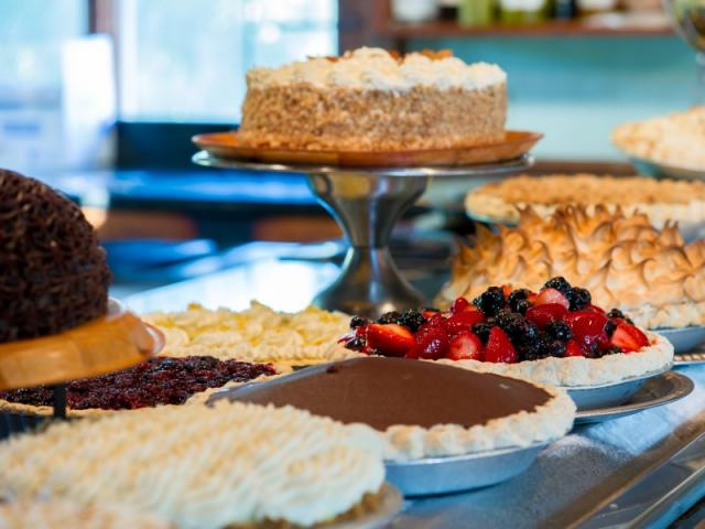 pies, cakes and other desserts at Euphemia Haye
