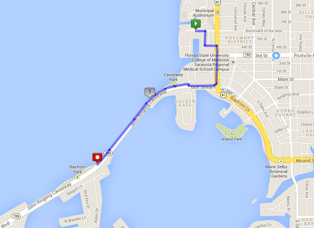 Hyatt Regency - Short Route