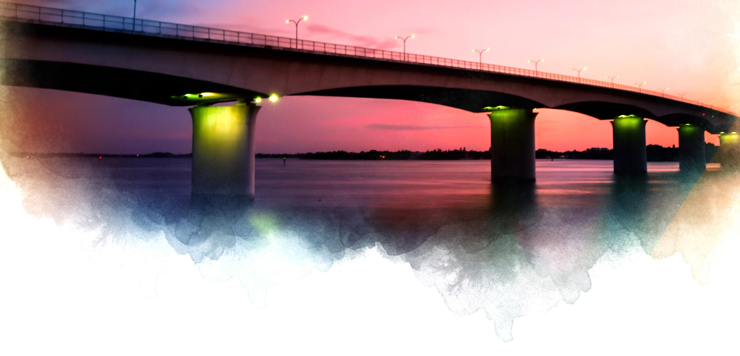 The Ringling Bridge at sunset