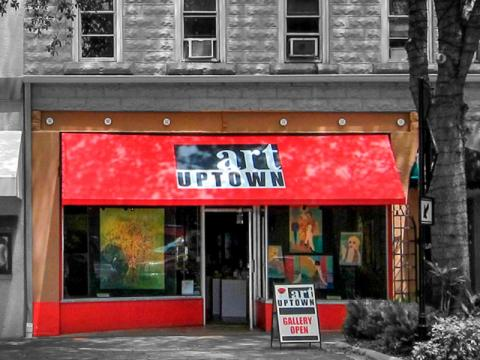 Art Uptown Gallery - Located on lower Main Street, our gallery doors are open every day, with evening hours on Friday and Saturday. An artist owned gallery, our members are admitted by strict jurying process to ensure the highest quality of two and three-dimensional art possible. We exhibit a diverse array of media, including sculpture, photography, watercolor, abstract painting, digital media, fiber, glass, oil and pastel works. Artists bring new work to the gallery at the end of each month, so the look of the gallery is always changing. Our knowledgeable gallery coordinators look forward to showing you whats on display this month, as well as discussing additional pieces that can be seen at your request. Come enjoy a wide range of art with us, in our eclectic gallery under the red awning! For additional information on each artist and upcoming events, such as Solo Exhibitions, please visit us at www.artuptown.com.