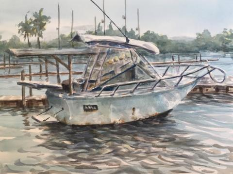 "Rita Rust's watercolor, ""@ Cortez"""