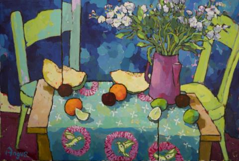 A new collection by Angus - Friday January 25th Scottish born and California-based, Angus brings his vibrant still life paintings to Chasen Galleries!