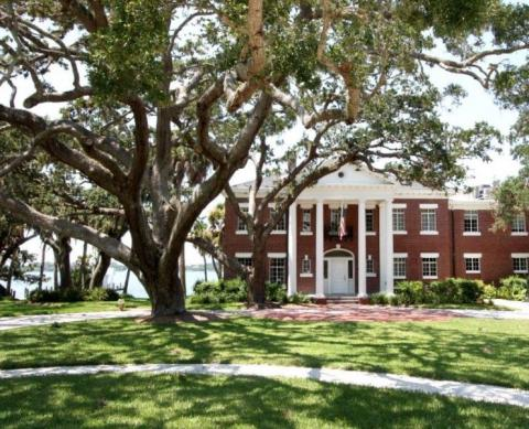 Burrows-Matson House - Bay Preserve features the historic Burrows-Matson House amid magnificent oaks.
