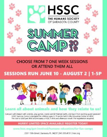 HSSC's Fur Fun Summer Camp