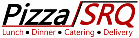 PizzaSRQ - Logo - PizzaSRQ. Lunch, Dinner, Catering and Delivery.