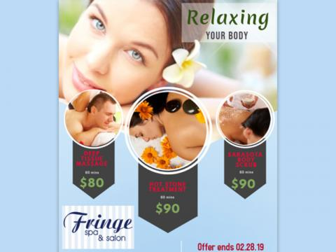 Relaxing Your Body - Deep Tissue Massage, Hot Stone Treatment, Body Scrub Discounts