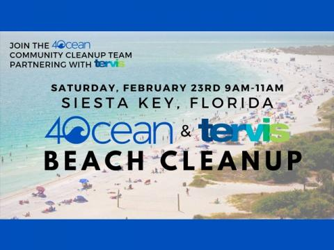 Siesta Key Beach Cleanup w/ Tervis