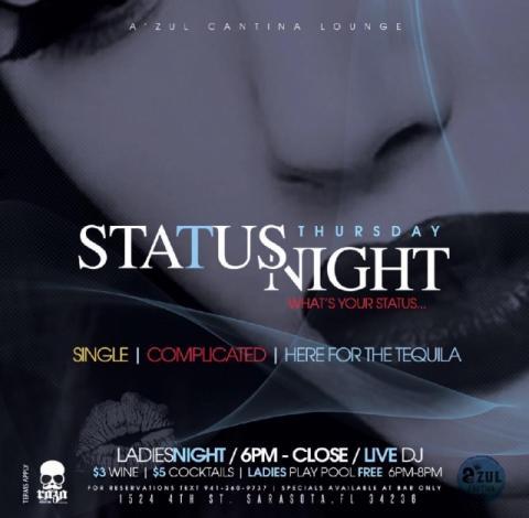 Status Thursday Ladies Night