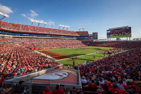 Raymond James Stadium - View of Raymond James Stadium at a Buccaneers Game.