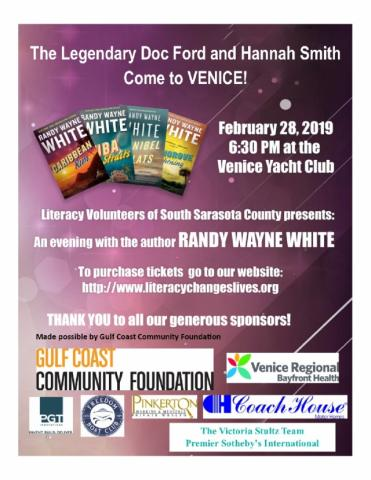 Come see author Randy Wayne White in Venice!