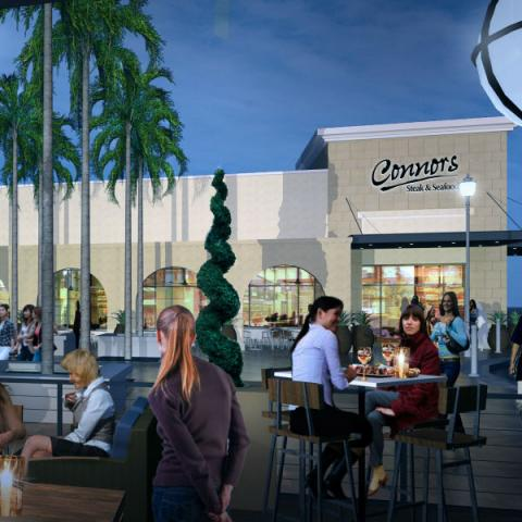 WF Siesta Key v2 - Rendering of the new Connors Steak & Seafood restaurant that opens August 2017