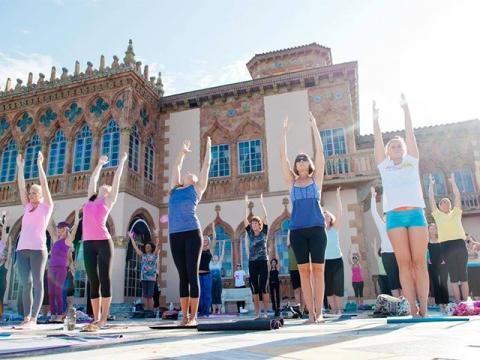 Yoga Solstice at Ca' d'Zan