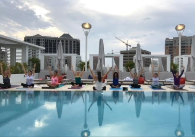 Sunrise Yoga on the roof - Guests may take a sunrise yoga class on our rooftop.