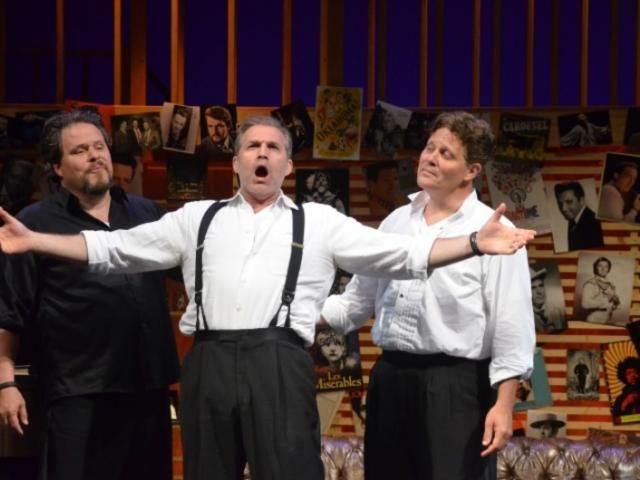"3020_725x480.jpg - Mark Delavan, Marc Kudisch and Jeff Mattsey in Asolo Rep's production of ""Baritones UnBound."" Photo by Gary W. Sweetman."