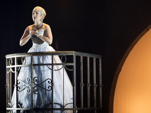 Asolo Rep EVITA - Ana Isabelle in Asolo Rep's production of EVITA. Photo by Cliff Roles.