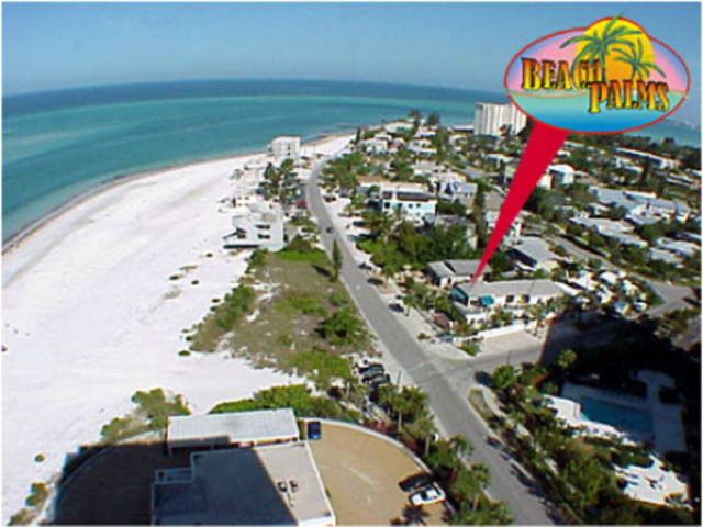 Aerial View, Beach Access 4 - An aerial view of our property and the beach.