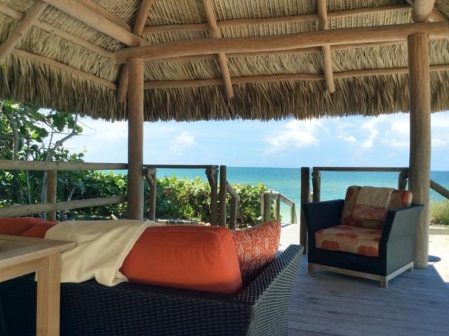 Casey Key Beach Rental Cabana - Private gulf front cabana built of Brazilian teak.