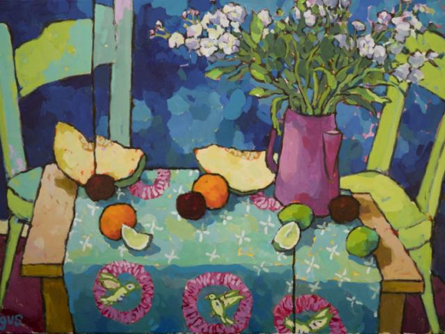 My True Colors - Thursday January 17th Scottish born and California-based, Angus brings his vibrant still life paintings to Chasen Galleries!